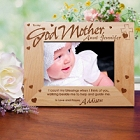To My Godmother Personalized Wood Picture Frame