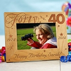 Happy 40th Birthday Personalized Picture Frames