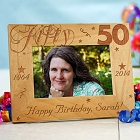 Happy 50th Birthday Personalized Picture Frames