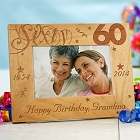 Happy 60th Birthday Personalized Picture Frames