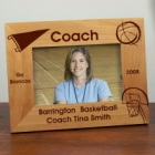 Personalized Basketball Coach Wood Picture Frame