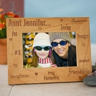 My Favorite Aunt Engraved Wood Picture Frames