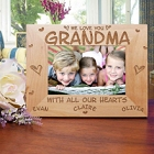All Our Hearts Personalized Grandma Picture Frames