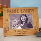 Happier Place Engraved Aunt Wood Picture Frames