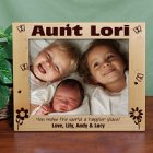 Aunt 8x10 Engraved Wooden Picture Frames