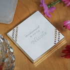 Silver Stone Heart Personalized Compact Mirror