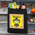 Halloween Character Personalized Black Trick or Treat Bags