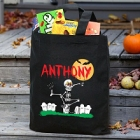 Dancing Skeleton Personalized Halloween Trick or Treat Bags