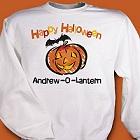Jack-O-Lantern Personalized Halloween Sweatshirts