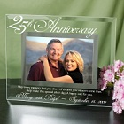 Engraved 25th Anniversary Glass Picture Frames