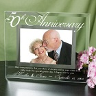 Engraved 50th Anniversary Glass Picture Frames