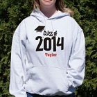 Class of 2015 Graduation Cap Personalized Graduation Hooded Sweatshirts