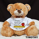 Teacher Personalized Plush Teddy Bear