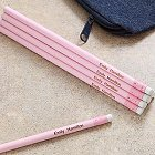 Baby Pink Personalized Pencils