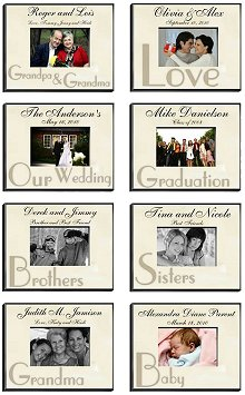 Special Moments Personalized Parchment Picture Frames