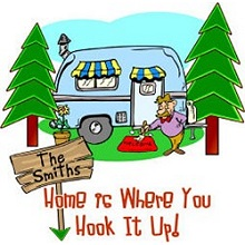 Home is Where You Hook It Up Personalized RV Checkbook Covers