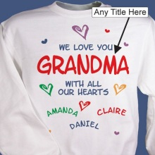 All Our Hearts Personalized Sweatshirts