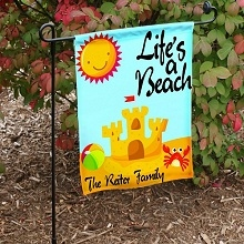 Life's A Beach Personalized Garden Flags