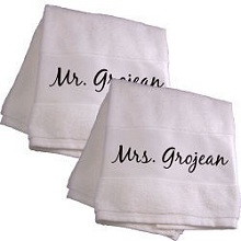 Personalized Couple Bath Towels