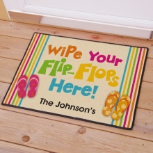 Flip Flops Beach House Personalized Doormats