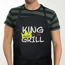 King Of The Grill Personalized BBQ Aprons