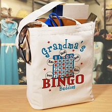 Bingo Personalized Canvas Tote Bags