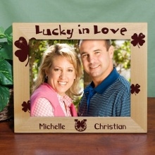 Lucky in Love 10x8 Irish Personalized Wood Picture Frames