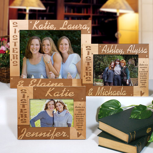 Personalized Sisters Wooden Picture Frames