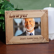 Old Time Personalized Lawyer Wood Picture Frames