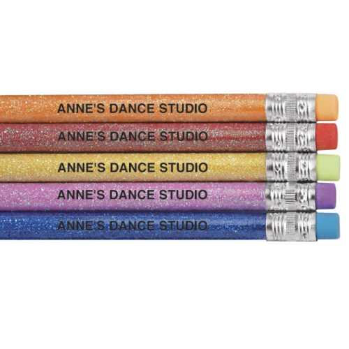 Personalized Glitter Pencils - Set of 12