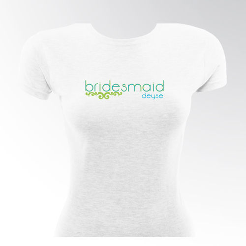 Lovely Lime Personalized Bridesmaids Fitted T-shirts