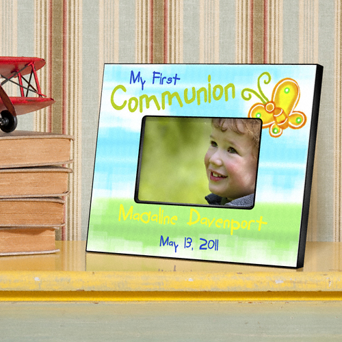 Sunshine and Butterflies Personalized First Communion Picture Frames