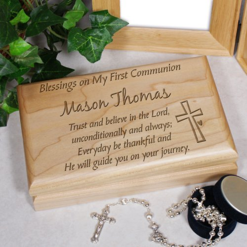 Engraved First Holy Communion Valet Box