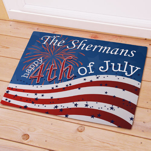 4th of July Personalized Patriotic Welcome Doormats