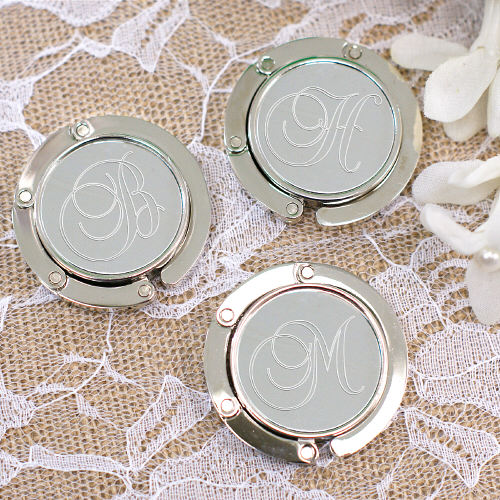Engraved Bridal Party Purse Hanger Hooks