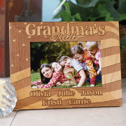 USA American Pride Personalized Wood Patriotic Picture Frames