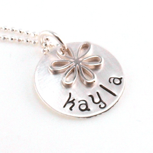 Personalized Sterling Silver Flower Girl Necklace