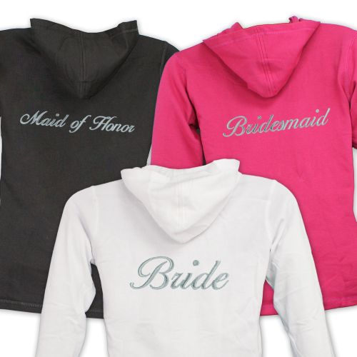 Personalized Bridesmaids Bridal Party Ladies Hoodies