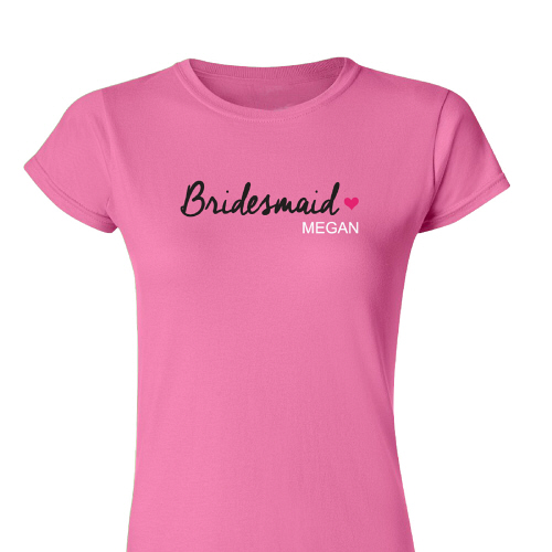 Personalized Bridesmaids Bridal Party Womens Fitted T-Shirts