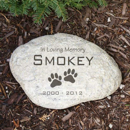 Paw Prints Pet Memorial Decorative Garden Stones