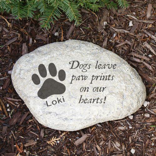 Dog Memorial Decorative Garden Stones