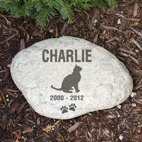 Cat Memorial Decorative Garden Stones