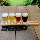 Personalized Small Pilsner Glasses Beer Flight Set