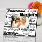 Black on White Personalized Bridesmaid Picture Frames