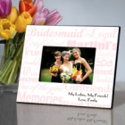 Pink on White Personalized Bridesmaid Picture Frames