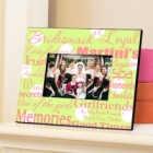 Polka Dots on Green Personalized Bridesmaid Picture Frames