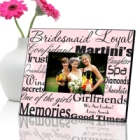 Polka Dots on Pink Personalized Bridesmaid Picture Frames