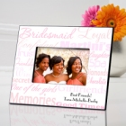 Shades of Pink Personalized Bridesmaid Picture Frames