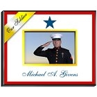 Personalized Blue Star Military Family Picture Frames