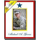 Personalized Blue Star Military Family Vertical Picture Frames